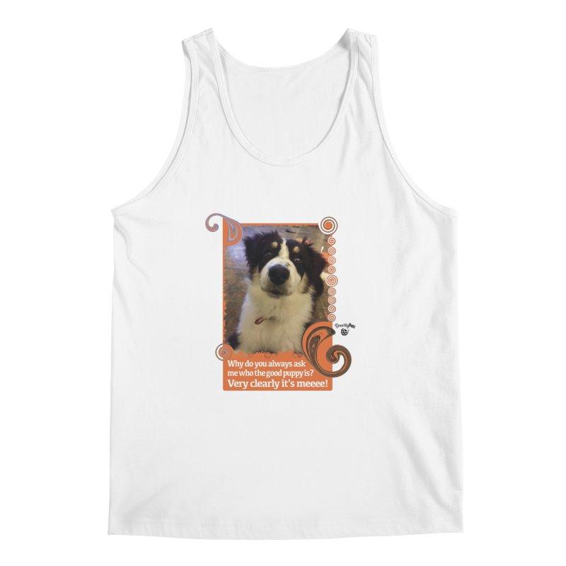 Good Puppy Men's Regular Tank by Smarty Petz's Artist Shop