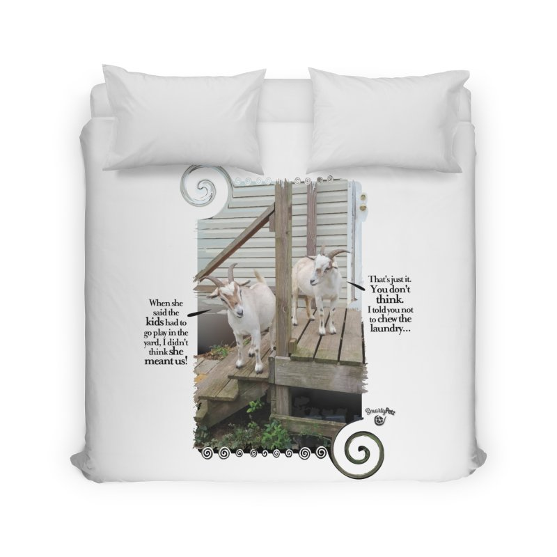 KIds, go play in the yard Home Duvet by Smarty Petz's Artist Shop
