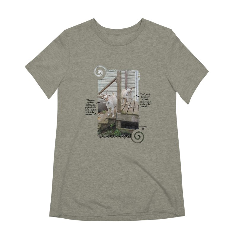 KIds, go play in the yard Women's Extra Soft T-Shirt by Smarty Petz's Artist Shop