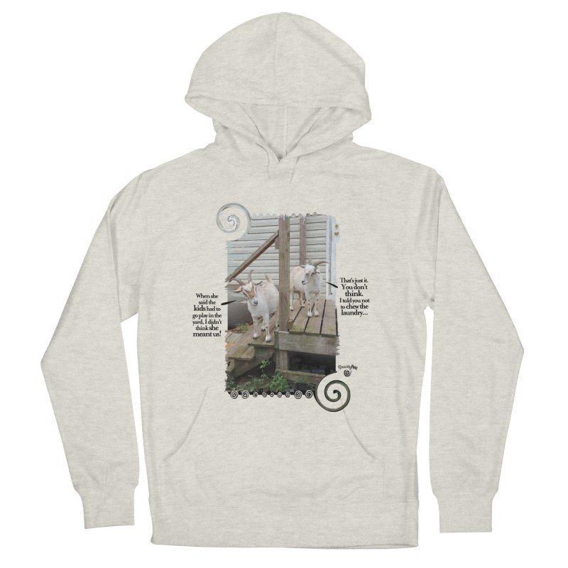 KIds, go play in the yard Men's French Terry Pullover Hoody by Smarty Petz's Artist Shop