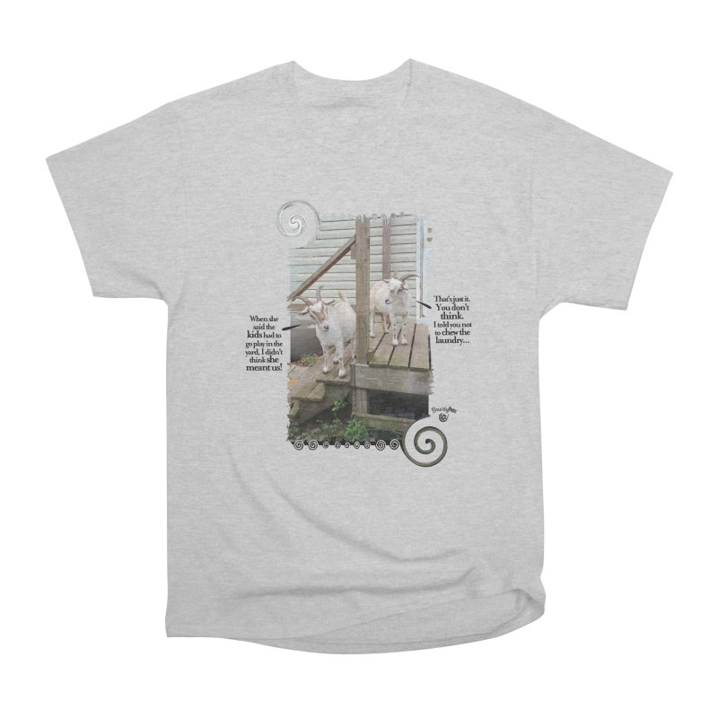 KIds, go play in the yard Men's Heavyweight T-Shirt by Smarty Petz's Artist Shop