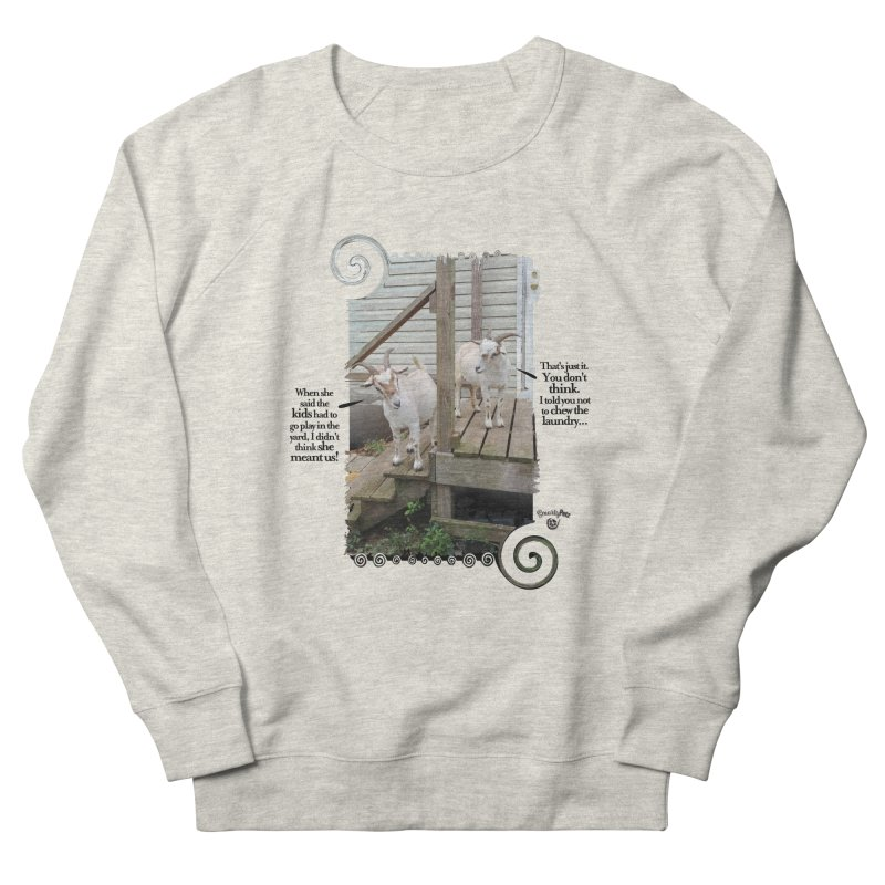 Kids, go play in the yard Women's French Terry Sweatshirt by Smarty Petz's Artist Shop