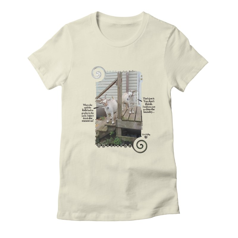 Kids, go play in the yard Women's Fitted T-Shirt by Smarty Petz's Artist Shop
