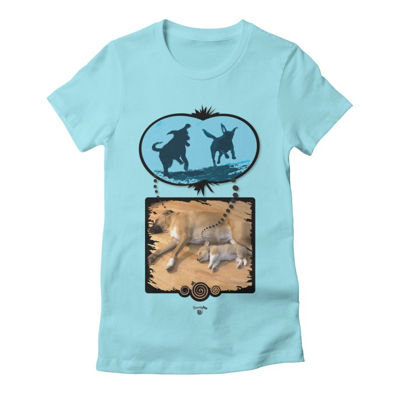 Sweet Dreams Women's Fitted T-Shirt by Smarty Petz's Artist Shop