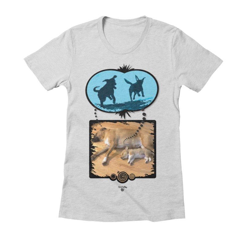 Sweet Dreams Women's Fitted T-Shirt by Smarty Petz's Artist Shop