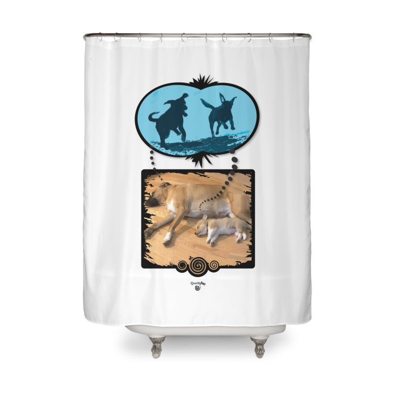 Sweet Dreams Home Shower Curtain by Smarty Petz's Artist Shop