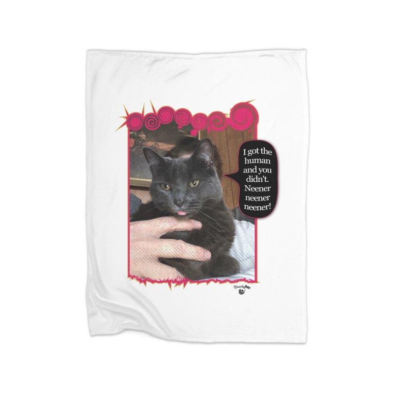 Neener neener neener! Home Fleece Blanket Blanket by Smarty Petz's Artist Shop