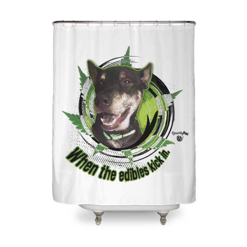 When the edibles kick in. Home Shower Curtain by Smarty Petz's Artist Shop