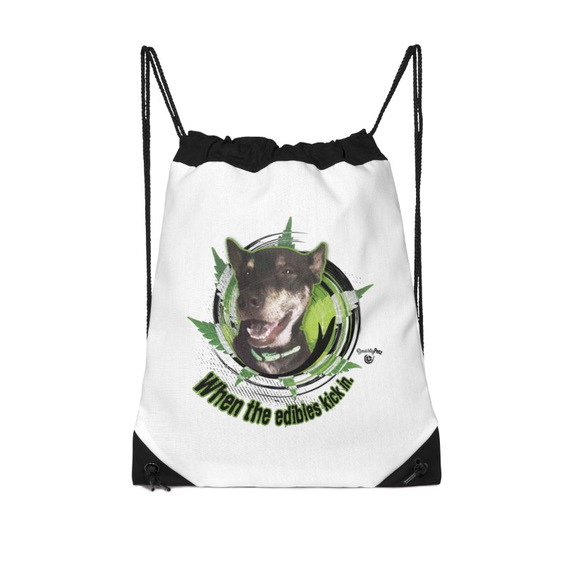 When the edibles kick in. Accessories Drawstring Bag Bag by Smarty Petz's Artist Shop