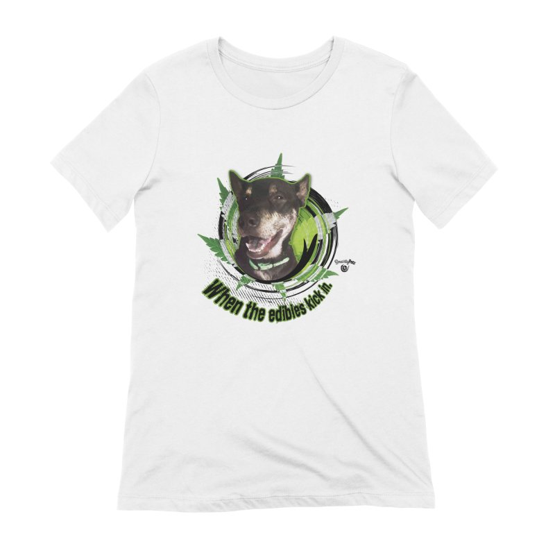 When the edibles kick in. Women's Extra Soft T-Shirt by Smarty Petz's Artist Shop