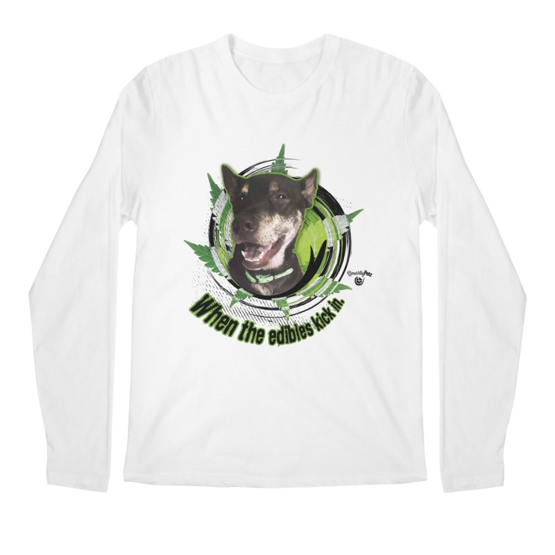 When the edibles kick in. Men's Regular Longsleeve T-Shirt by Smarty Petz's Artist Shop
