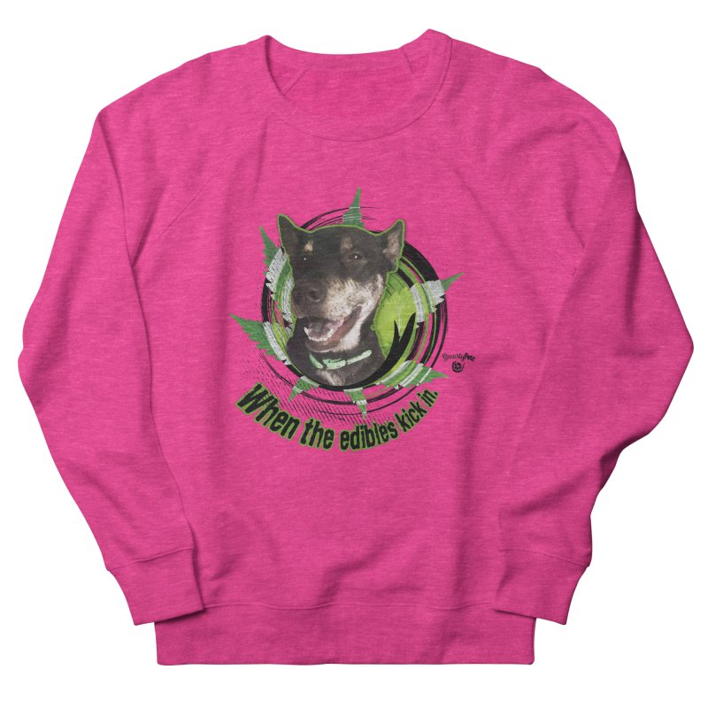 When the edibles kick in. Men's French Terry Sweatshirt by Smarty Petz's Artist Shop