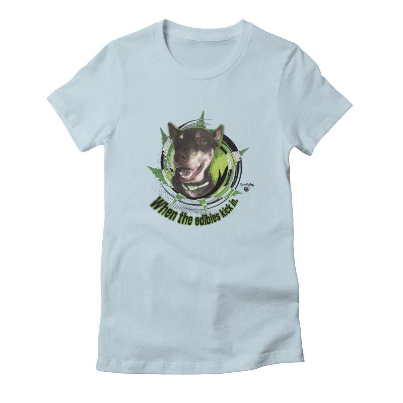 When the edibles kick in. Women's T-Shirt by Smarty Petz's Artist Shop