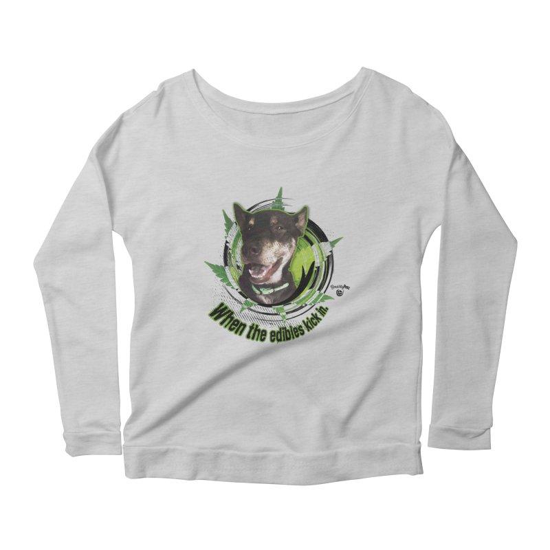 When the edibles kick in. Women's Scoop Neck Longsleeve T-Shirt by Smarty Petz's Artist Shop