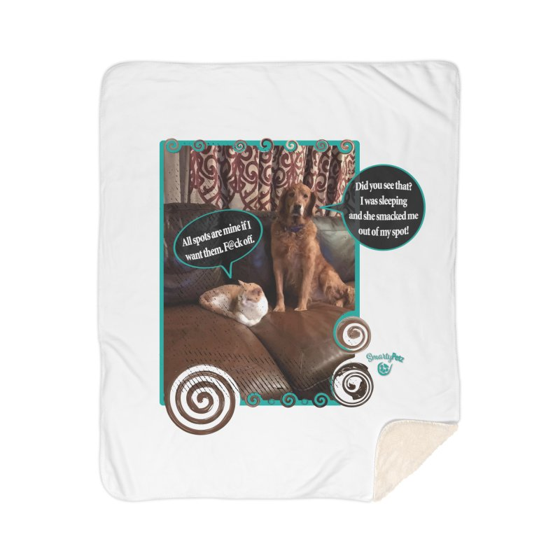 Did you see that? Home Sherpa Blanket Blanket by Smarty Petz's Artist Shop