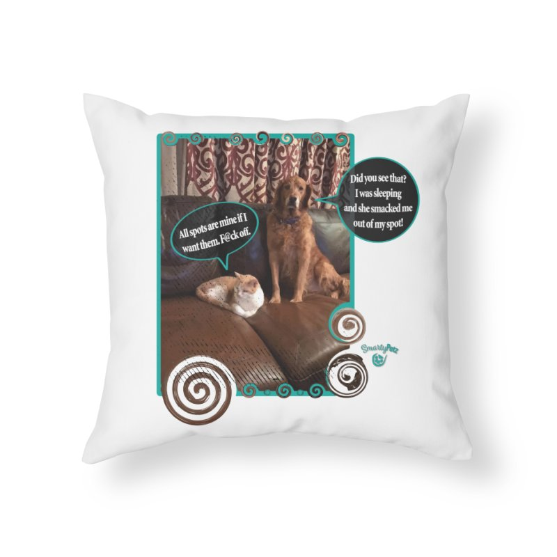 Did you see that? Home Throw Pillow by Smarty Petz's Artist Shop