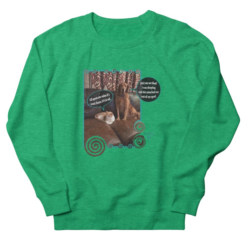 Did you see that? Women's French Terry Sweatshirt by Smarty Petz's Artist Shop