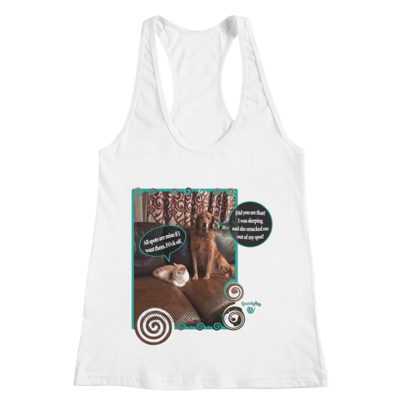 Did you see that? Women's Racerback Tank by Smarty Petz's Artist Shop