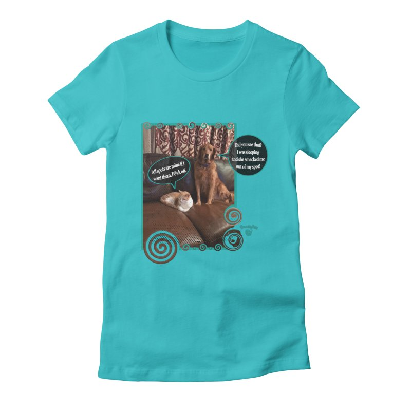 Did you see that? Women's Fitted T-Shirt by Smarty Petz's Artist Shop