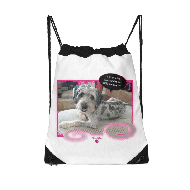 Groomer they said... Accessories Drawstring Bag Bag by Smarty Petz's Artist Shop