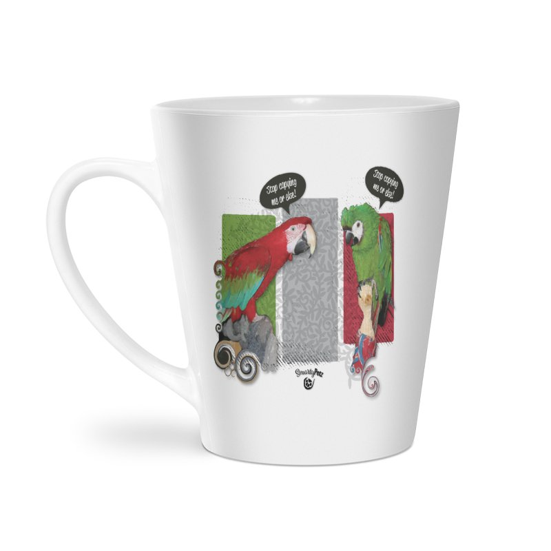 Stop Copying me! Accessories Latte Mug by Smarty Petz's Artist Shop