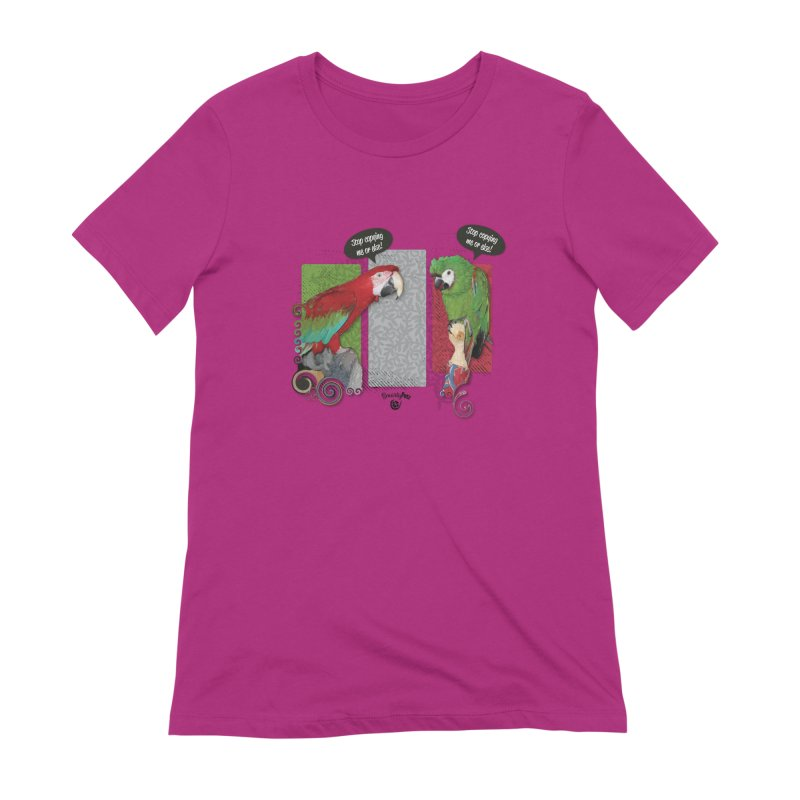 Stop Copying me! Women's Extra Soft T-Shirt by Smarty Petz's Artist Shop