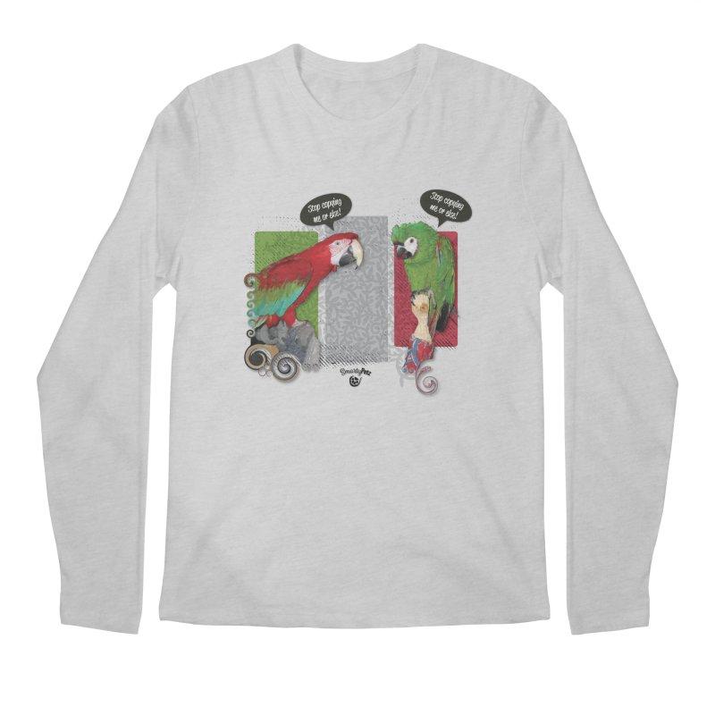 Stop Copying me! Men's Regular Longsleeve T-Shirt by Smarty Petz's Artist Shop