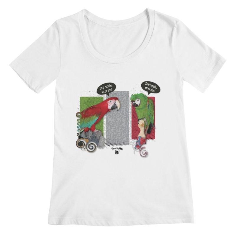 Stop Copying me! Women's Regular Scoop Neck by Smarty Petz's Artist Shop
