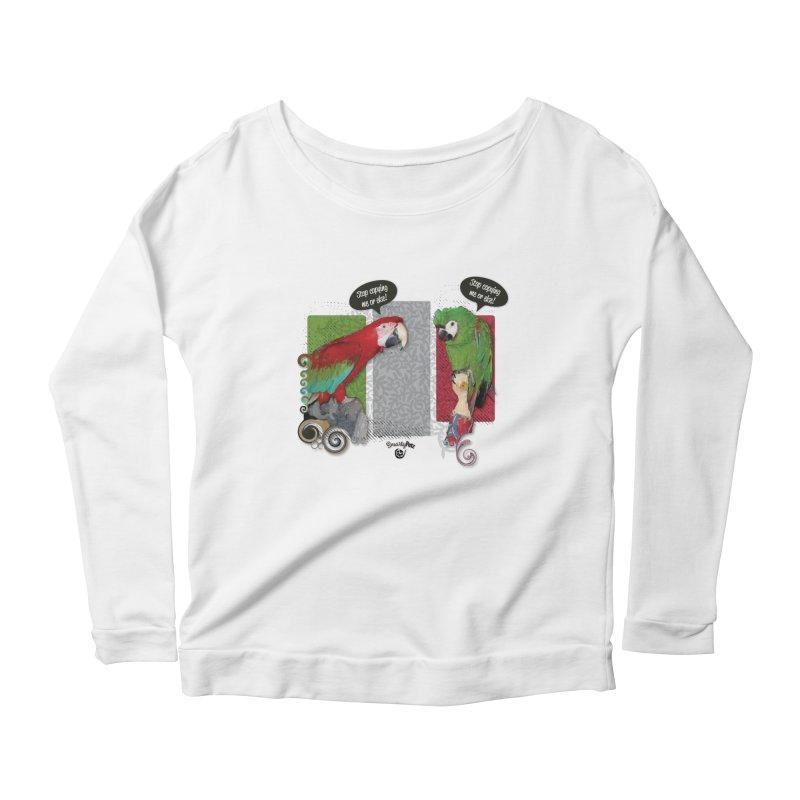 Stop Copying me! Women's Scoop Neck Longsleeve T-Shirt by Smarty Petz's Artist Shop