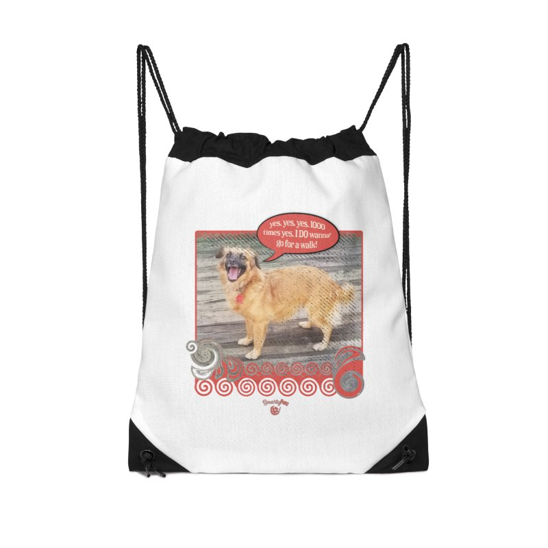 1000 times yes Accessories Drawstring Bag Bag by Smarty Petz's Artist Shop