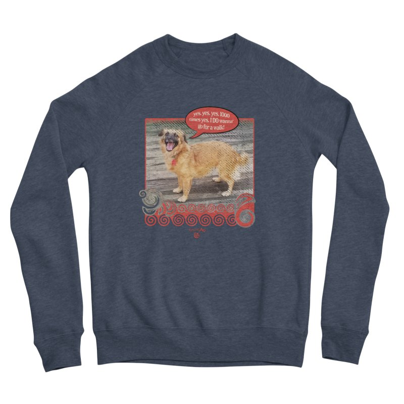 1000 times yes Women's Sponge Fleece Sweatshirt by Smarty Petz's Artist Shop