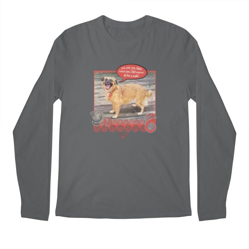 1000 times yes Men's Regular Longsleeve T-Shirt by Smarty Petz's Artist Shop