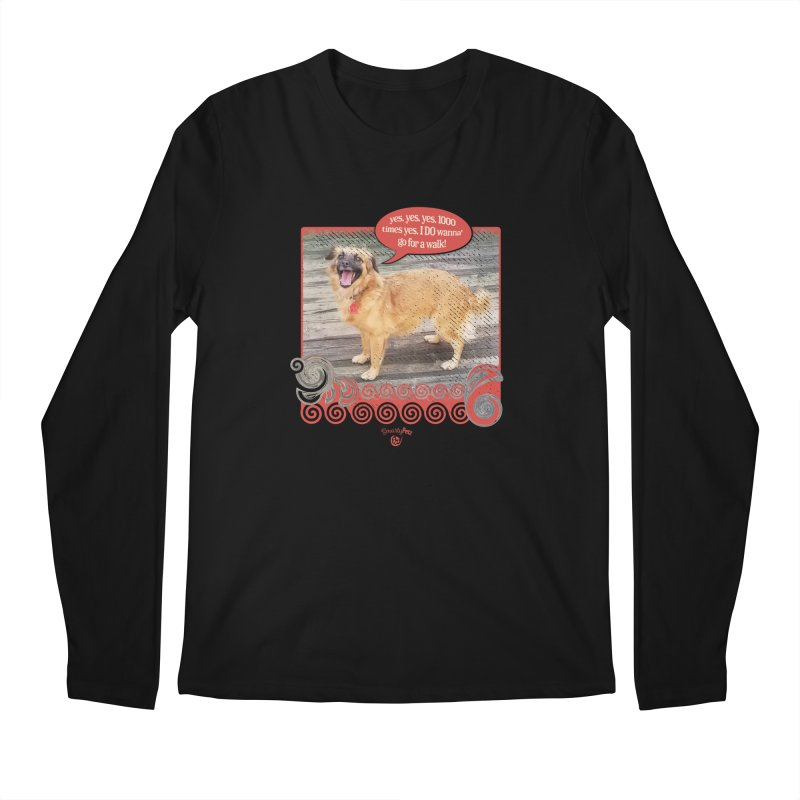 1000 times yes Men's Regular Longsleeve T-Shirt by Smarty Petz's Artist Shop