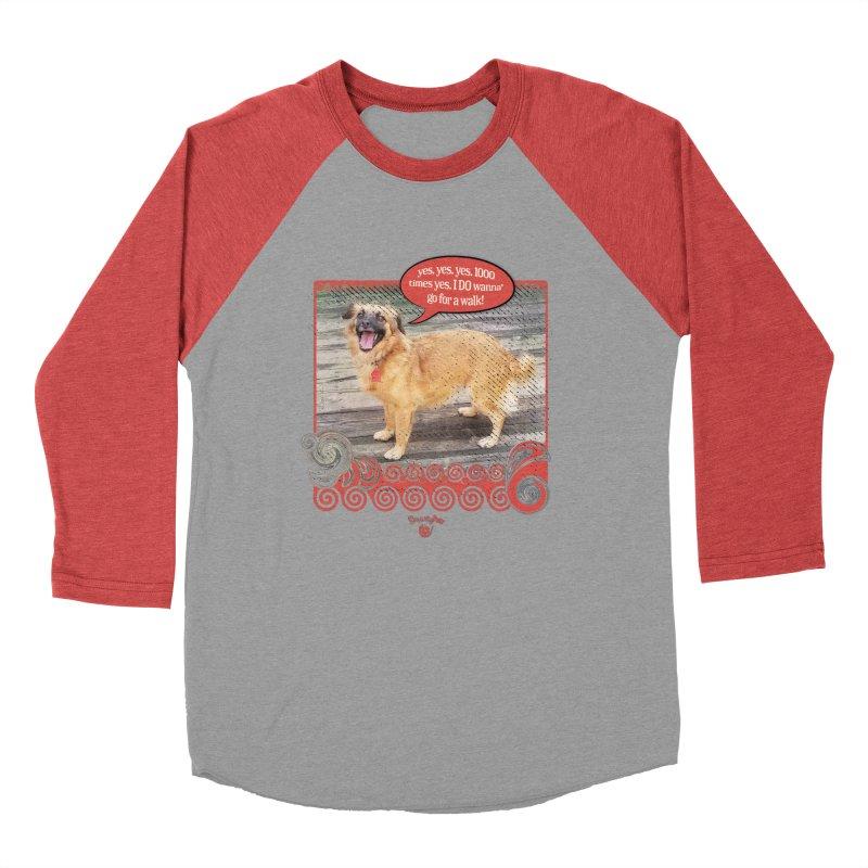 1000 times yes Women's Baseball Triblend Longsleeve T-Shirt by Smarty Petz's Artist Shop