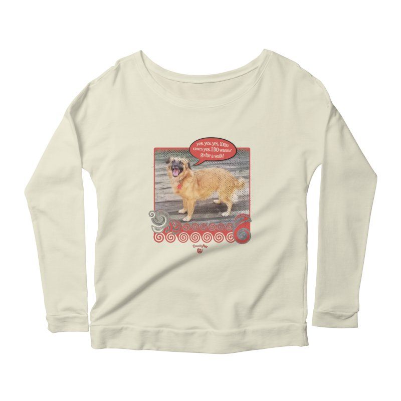 1000 times yes Women's Scoop Neck Longsleeve T-Shirt by Smarty Petz's Artist Shop