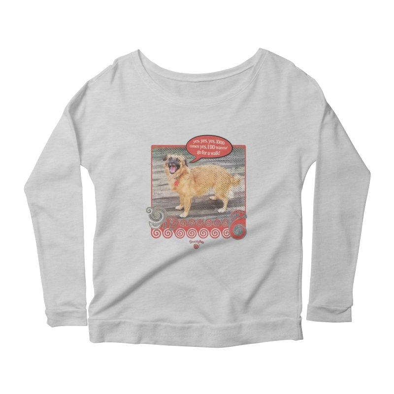 1000 times yes Women's Scoop Neck Longsleeve T-Shirt by Smarty Petz's Artist Shop