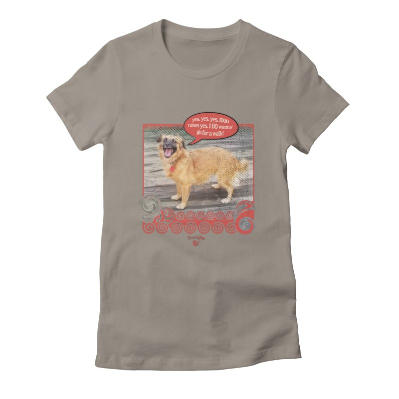 1000 times yes Women's Fitted T-Shirt by Smarty Petz's Artist Shop