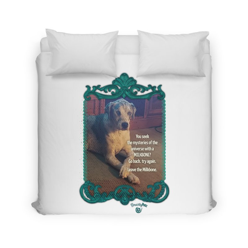 Leave the Milkbone Home Duvet by Smarty Petz's Artist Shop