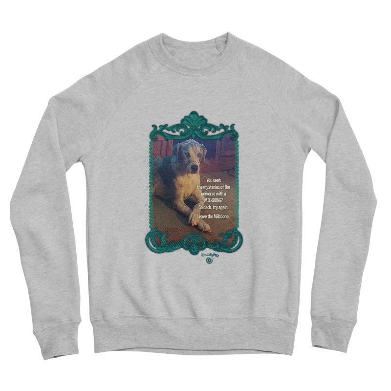 Leave the Milkbone Men's Sponge Fleece Sweatshirt by Smarty Petz's Artist Shop