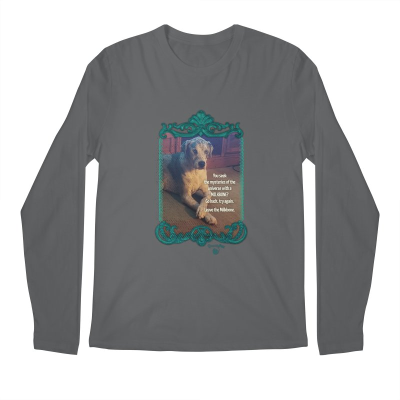 Wisdom for a Milkbone? Men's Regular Longsleeve T-Shirt by Smarty Petz's Artist Shop