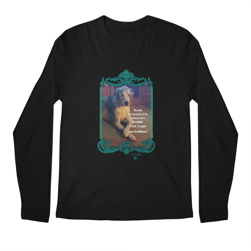 Leave the Milkbone Men's Regular Longsleeve T-Shirt by Smarty Petz's Artist Shop