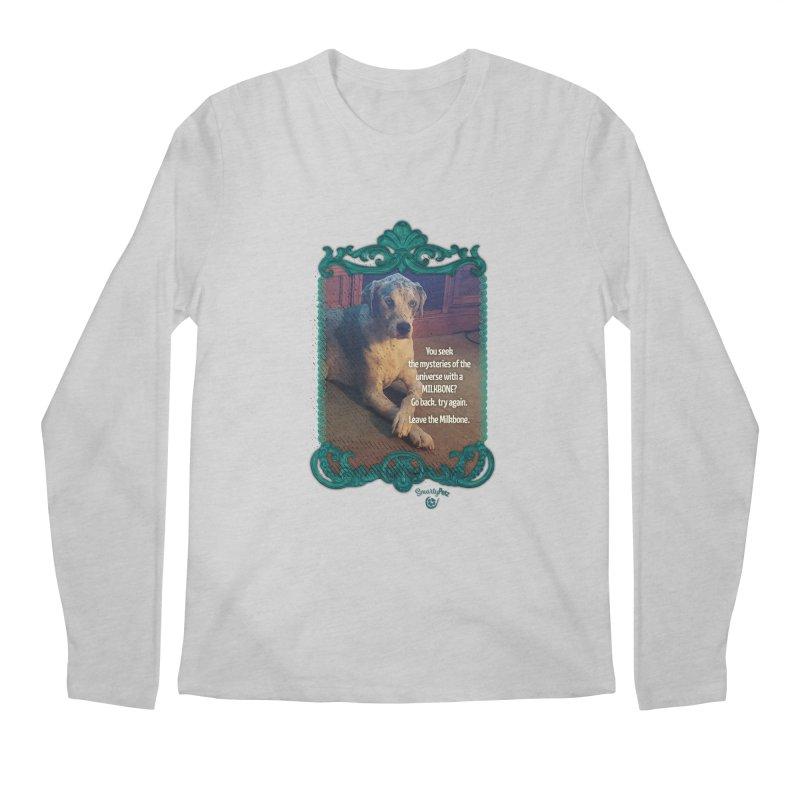 Leave the Milkbone Men's Regular Longsleeve T-Shirt by Smarty Petz's Artist Shop