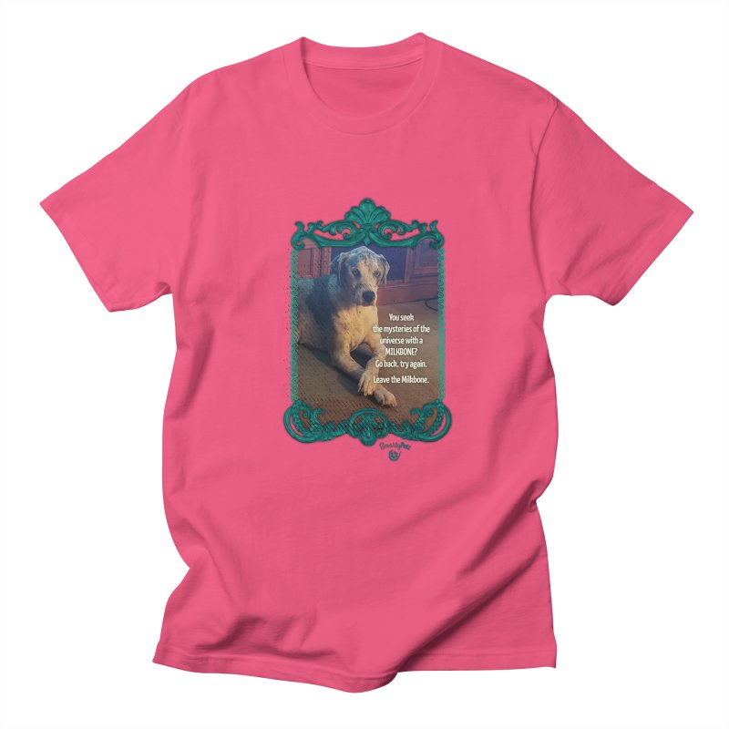 Leave the Milkbone Men's Regular T-Shirt by Smarty Petz's Artist Shop