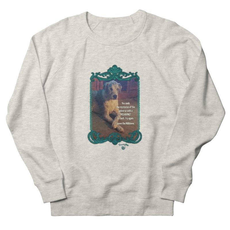 Leave the Milkbone Men's French Terry Sweatshirt by Smarty Petz's Artist Shop
