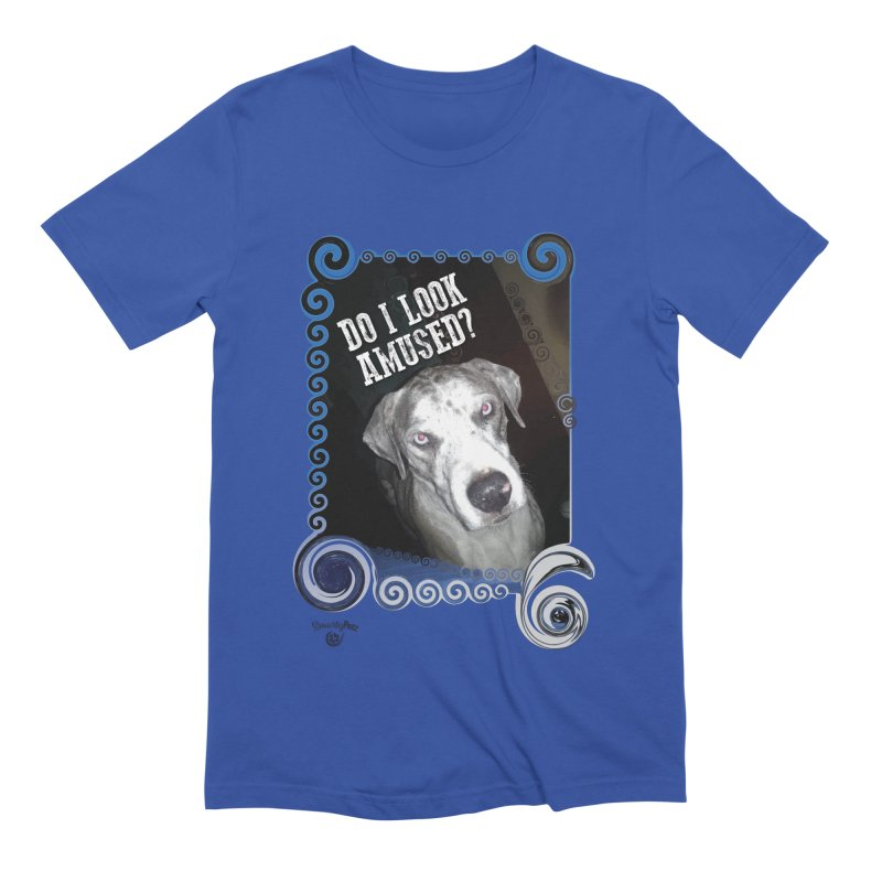 Do I look amused? Men's Extra Soft T-Shirt by Smarty Petz's Artist Shop