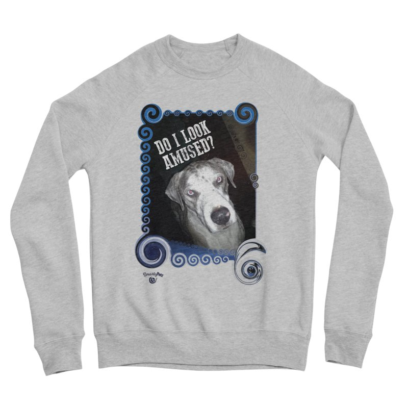 Do I look amused? Men's Sponge Fleece Sweatshirt by Smarty Petz's Artist Shop