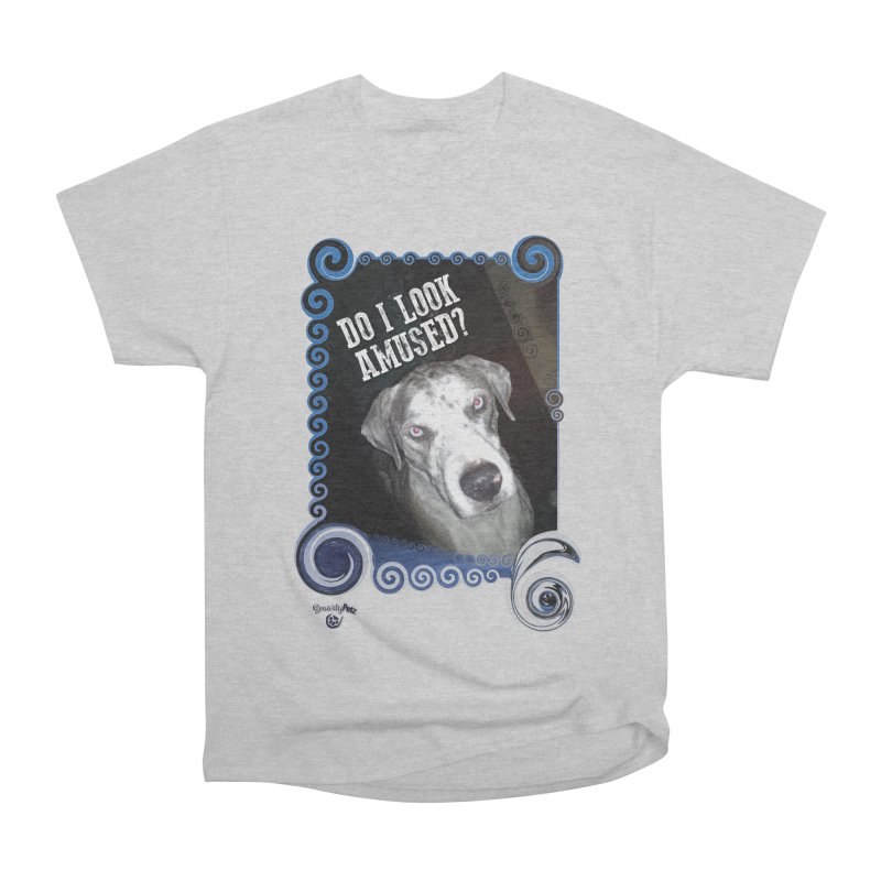 Do I look amused? Men's Heavyweight T-Shirt by Smarty Petz's Artist Shop