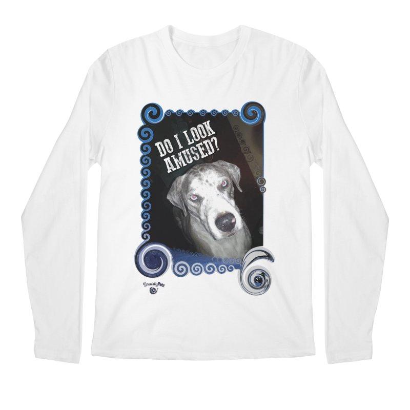 Do I look amused? Men's Regular Longsleeve T-Shirt by Smarty Petz's Artist Shop