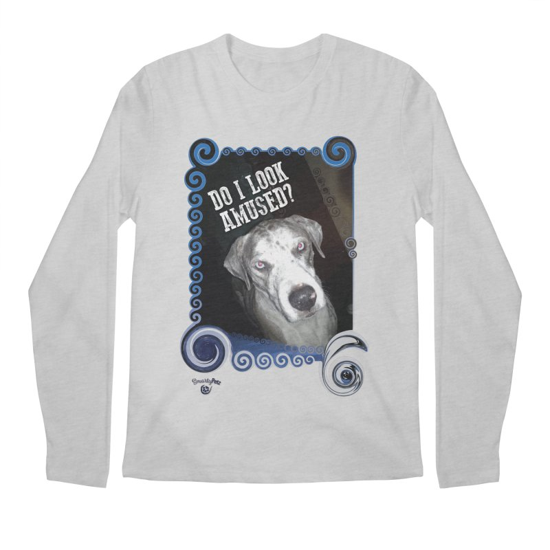 Do I look amused? Men's Regular Longsleeve T-Shirt by Smarty Petz's Artist Shop