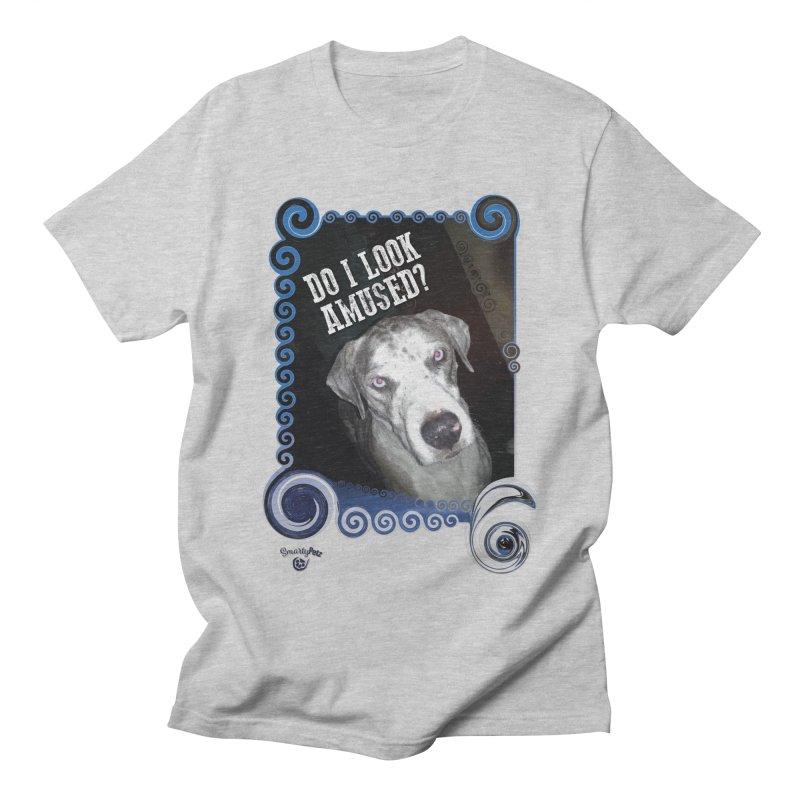 Do I look amused? Women's Regular Unisex T-Shirt by Smarty Petz's Artist Shop